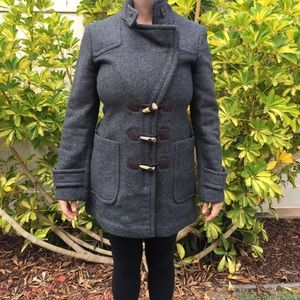 Woman's banana republic wool coat size small gray